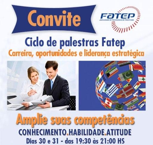 23/10 – Fatep realiza ciclo de palestras sobre carreira, oportunidades e liderança estratégica