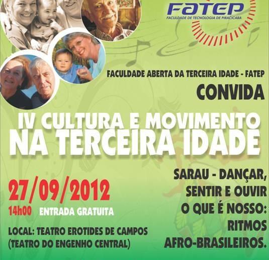 24/09 – Faculdade Aberta da Terceira Idade da Fatep se prepara para sarau no Teatro do Engenho Central