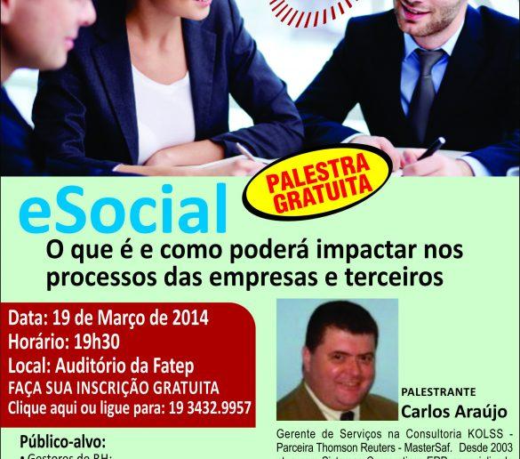 17/03/2014 – Fatep realiza palestra gratuita para esclarecer detalhes do eSocial