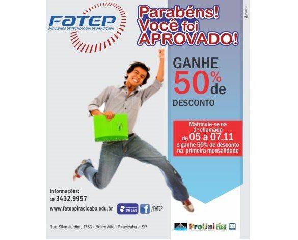 05/11/2014 – Confira os aprovados no Vestibular 2015 da Fatep