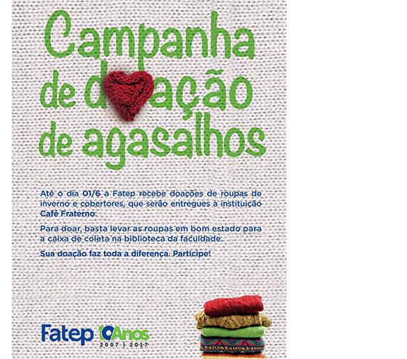INVERNO QUENTINHO – Fatep promove campanha para arrecadar roupas usadas
