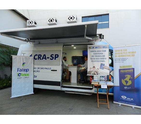 Fatep recebe CRA-SP Móvel para oferecer serviços gratuitos aos alunos