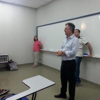 Marcos Antonio de Lima, diretor-mantenedor da Fatep, conversou com os alunos