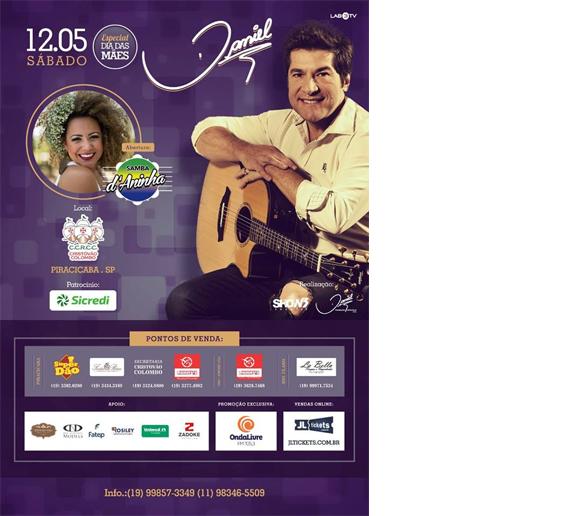 Fatep apoia show do cantor Daniel em homenagem às mães