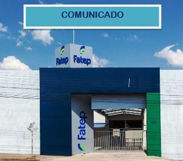 COMUNICADO – SUSPENSÃO AULA