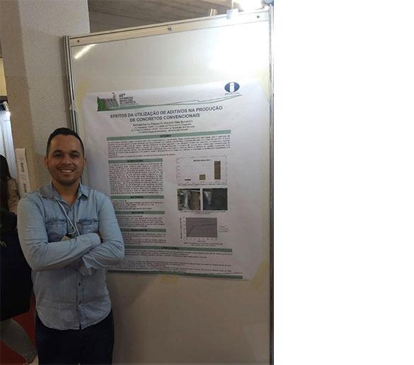 Aluno da Fatep apresenta artigo científico no maior congresso nacional do concreto